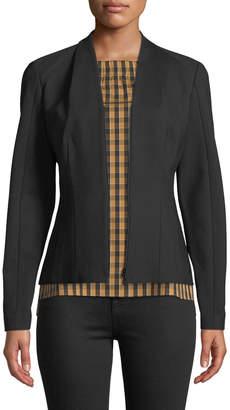 Lafayette 148 New York V-Neck Zip-Front Ponte Knit Jacket