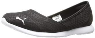 Puma Women s Vega Ballet Flume Walking Shoe Black Silver 13c2dc267