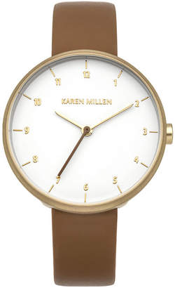 Karen Millen Tan Leather Strap Watch
