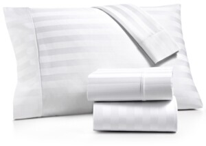 Aq Textiles Bergen Stripe 4-Pc. Full Sheet Set, 1000 Thread Count 100% Certified Egyptian Cotton Bedding