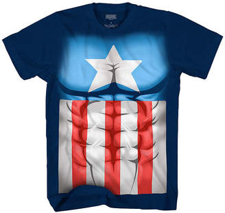 Novelty T-Shirts Short Sleeve Crew Neck Captain America T-Shirt Boys