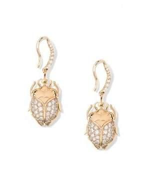 Aurelie Bidermann Beetle Diamond& 18K Yellow Gold Pendant