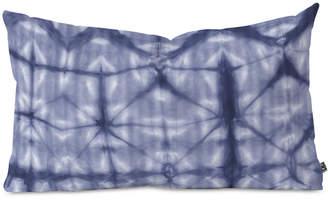 Deny Designs Amy Sia Tie Dye 2 Navy Oblong Throw Pillow