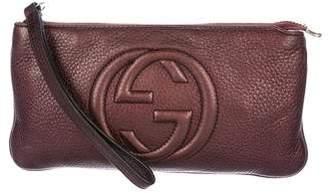 Gucci Leather Soho Wristlet