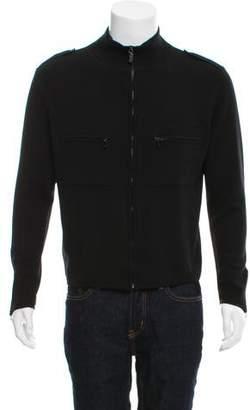 Gucci Merino Wool Zip-Up Sweater