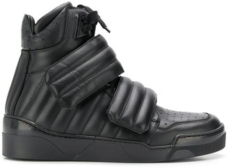 Les Hommes padded high-top sneakers