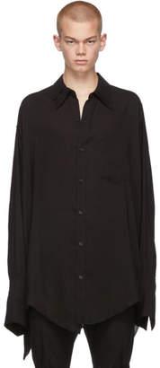 Sulvam Black Double Collar Shirt