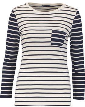 Petit Bateau Striped Cotton-Jersey Top $55 thestylecure.com
