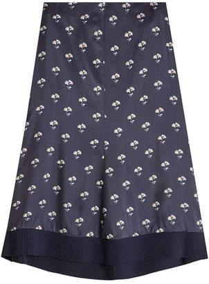 Victoria Beckham Embroidered Satin Skirt