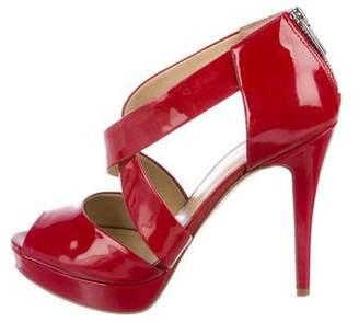 MICHAEL Michael Kors Patent Leather Platform Sandals