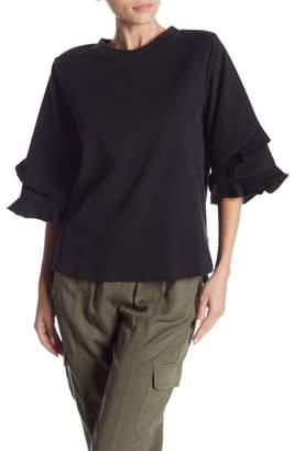 Hashttag Elbow Length Sleeve Knit Top