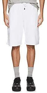Blood Brother MEN'S TOXO COTTON-BLEND VELOUR TRACK SHORTS-WHITE SIZE XL