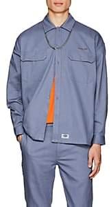 Dickies CONSTRUCT Men's Logo Cotton Twill Workshirt - Blue