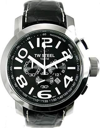 TW Steel Men's TW 51 Grandeur Leather Chronograph Dial Watch