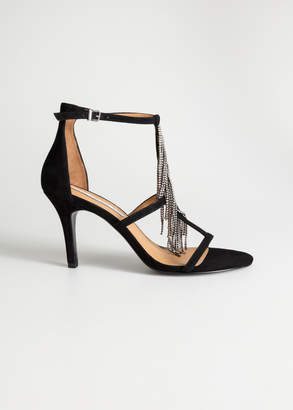 And other stories Rhinestone Fringe Stiletto Pumps