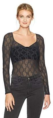 Only Hearts Women's Stretch Lace Sweatheart Bodysuit