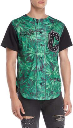 Criminal Damage Cannabis Perforated Baseball Jersey