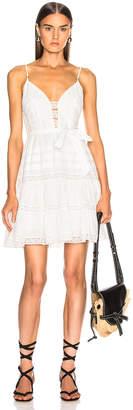Zimmermann Honour Scallop Short Dress in Ivory   FWRD