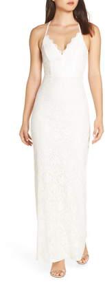LuLu*s Alice Crisscross Back Gown
