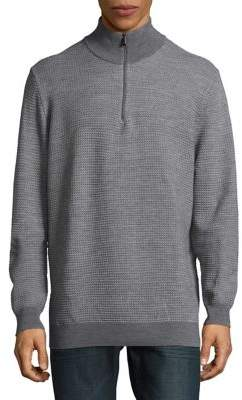 Calvin Klein Turtleneck Tweed Sweater