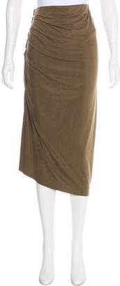 Donna Karan Ruched Midi Skirt