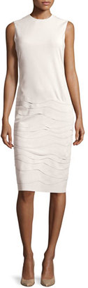 Ralph Lauren Collection Sleeveless Layered Applique Dress, Cream $2,590 thestylecure.com