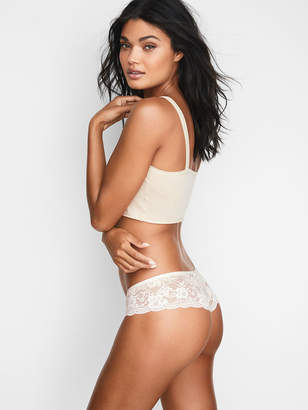 Victoria's Secret Dream Angels Floral Lace-trim Hipster Thong Panty