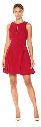Adelyn Rae Women's Samantha Woven Fit & Flare W/Armhole Ruffles
