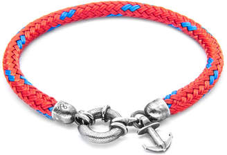 """Anchor And Crew Silver & Rope Bracelet """"Salcombe"""""""