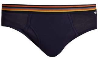 Paul Smith Artist Stripe Cotton Jersey Briefs - Mens - Navy