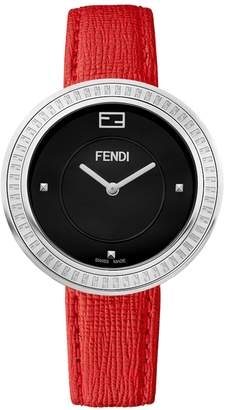 Fendi My Way Stainless Steel & Leather-Strap Watch
