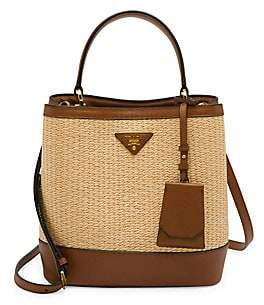 Prada Women's Paglia Double Bucket Bag