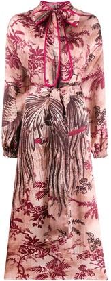 F.R.S For Restless Sleepers bird print dress