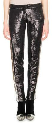 Balmain Side-Stripe Paillette Tuxedo Pants