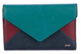 Chloé Tri-Color Leather Wallet