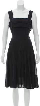 Louis Vuitton Belted Silk Dress w/ Tags