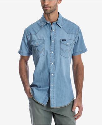 ff20200905 Wrangler Men Authentic Western Short-Sleeve Shirt
