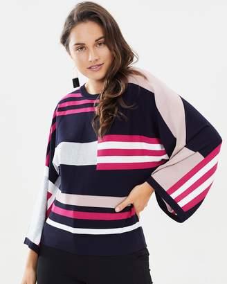 Karen Millen Colourblock Kimono Jumper