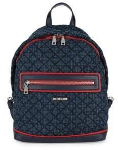 Love Moschino Quilted Denim Backpack
