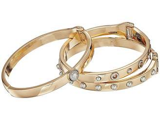GUESS Three-Piece Hinge Bangle Set with Studs - Two-Tone