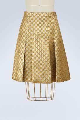 3801db09b0 Gucci GG lurex pleated skirt