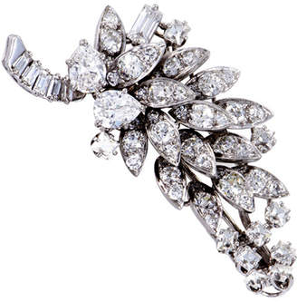 David Webb Heritage  Platinum 5.50 Ct. Tw. Diamond Brooch