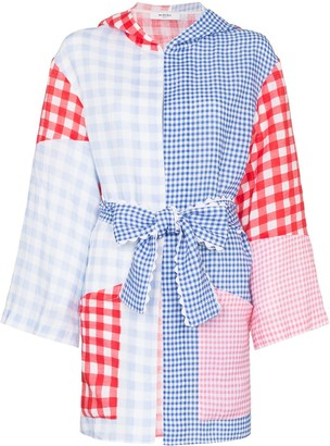 Marysia Swim gingham patchwork print tunic jacket