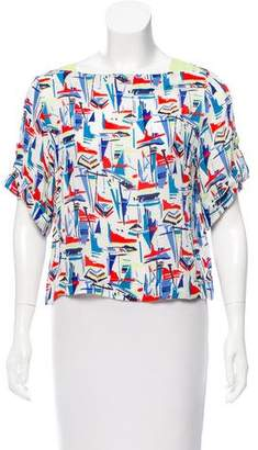 Milly Printed Short Sleeve Top