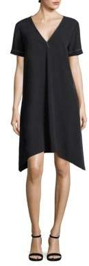 DKNY Solid V-Neck Dress