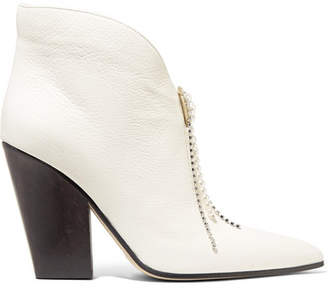 Magda Butrym Belgium Textured-leather Ankle Boots - White