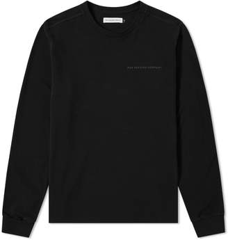 Pop Trading Company Long Sleeve Pique Logo Tee