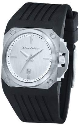 Black Dice Men's Quartz Stainless Steel and Silicon-Rubber Casual Watch