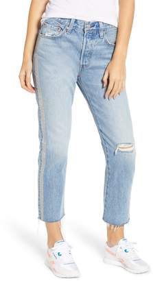 Levi's 501(R) High Waist Embellished Crop Jeans