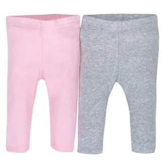 Gerber Newborn Baby Girl Organic Modern Cuff Active Pant, 2-pack